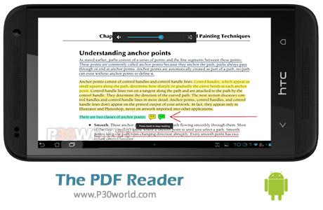 دانلود The PDF Reader v2.5.1 - نرم افزار کتابخوان اندروید