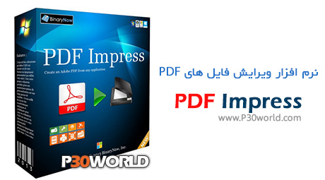 دانلود BinaryNow PDF Impress 2014.31.06.115 - نرم افزار ساخت ، ویرایش و تبدیل فایل های PDF