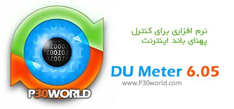 دانلود DU Meter 6.05 - نرم افزار کنترل مصرف پهنای باند اینترنت